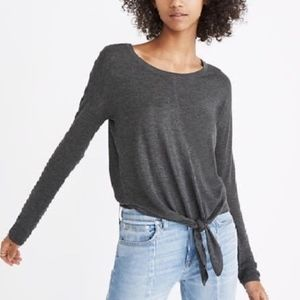 Madewell Modern tie front sweater top